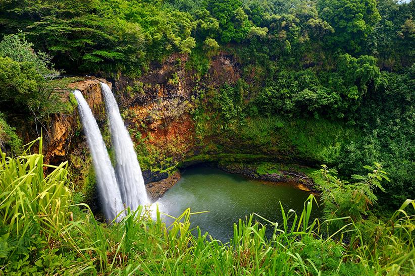Hawaii Big Island Twin Falls